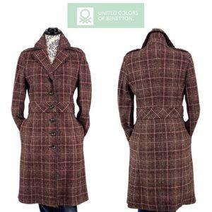 VINTAGE- Romanian Women's Wool Tweed Long Coat